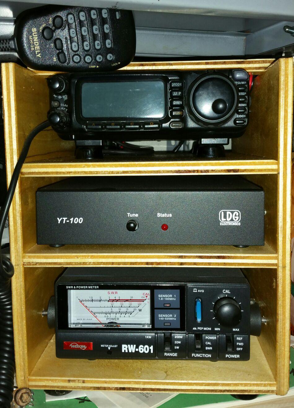YAESU FT-100D + LDG YT-100 + HOXIN RW-601 ESCAPE='HTML'